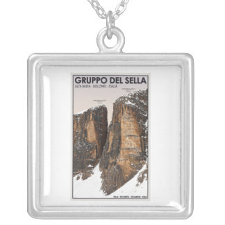 Gruppo del Sella - Nove y Dieci Colgante Cuadrado