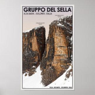 Gruppo del Sella - Nove y Dieci Póster