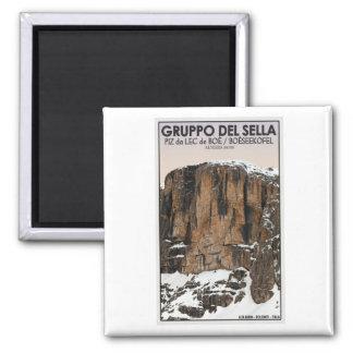 Gruppo Del Sella - Piz da Lec de Boe (CU) 2 Inch Square Magnet