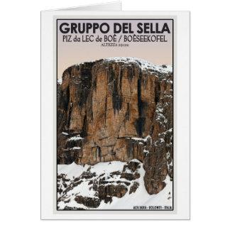 Gruppo Del Sella - Piz da Lec de Boe (CU) Greeting Card