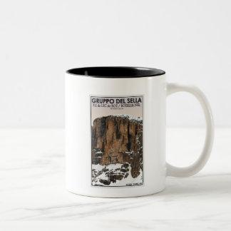 Gruppo Del Sella - Piz da Lec de Boe (CU) Two-Tone Coffee Mug