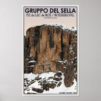 Gruppo Del Sella - Piz da Lec de Boe (CU) Poster