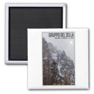 Gruppo del Sella - Sun Comes Through 2 Inch Square Magnet