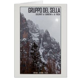 Gruppo del Sella - Sun Comes Through Greeting Card