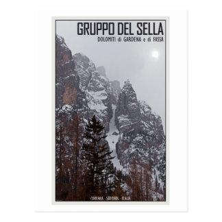 Gruppo del Sella - Sun Comes Through Postcard