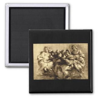 Gruppo di Donne', Giorgione_Studies of the Masters Magnet
