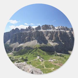 Gruppo Sella and passo Gardena Classic Round Sticker
