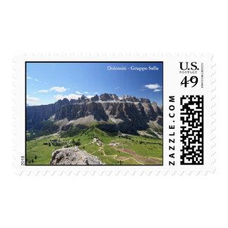 Gruppo Sella and passo Gardena Postage Stamp