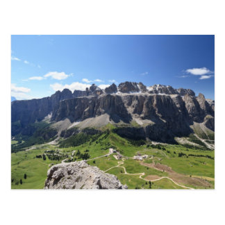 Gruppo Sella and passo Gardena Postcard