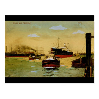 Gruss aus Hamburg, Hafen Vintage Postcard
