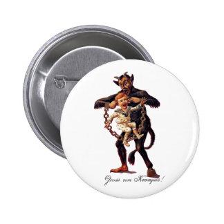 Gruss vom (Greetings From) Krampus Pinback Button