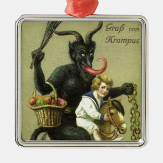 Gruss Vom Krampus Metal Ornament