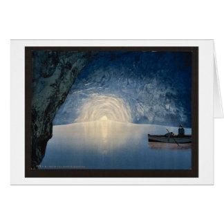 Gruta azul, Capri, isla de, foto del vintage de It Felicitacion