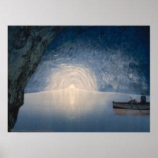 Gruta azul, isla de Capri, Campania, Italia Poster