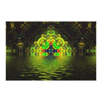 Gruta de la alga marina del fractal lona envuelta para galerias