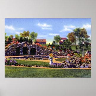 Gruta del parque de Anderson Indiana Shadyside Poster