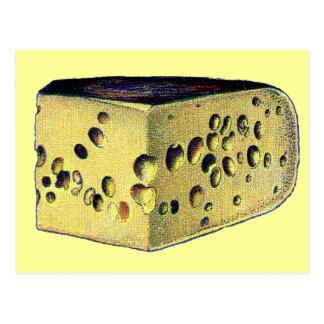 Gruyere antiguo del queso postales