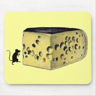 Gruyere antiguo del queso alfombrillas de ratones