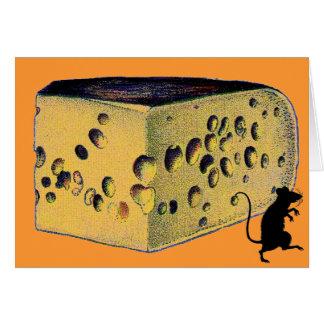 Gruyere antiguo del queso tarjeta de felicitación