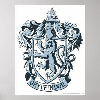 Gryffindor crest blue poster