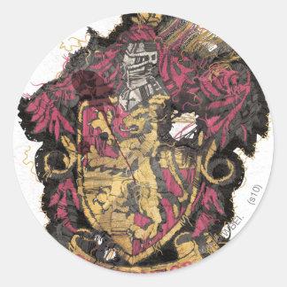 Gryffindor Crest - Destroyed Classic Round Sticker