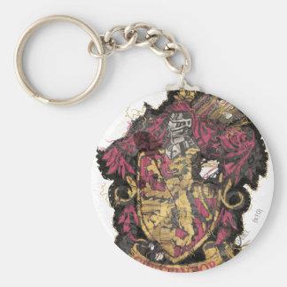 Gryffindor Crest - Destroyed Basic Round Button Keychain