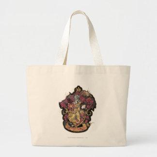 Gryffindor Crest - Destroyed Large Tote Bag