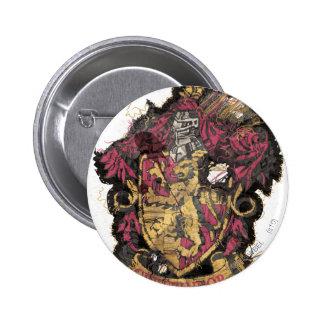Gryffindor Crest - Destroyed Pinback Button