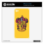 Gryffindor crest red and gold iPhone 4S decals