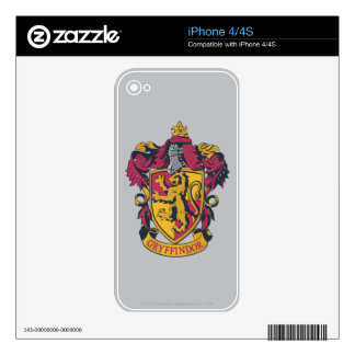 Gryffindor crest red and gold skins for the iPhone 4