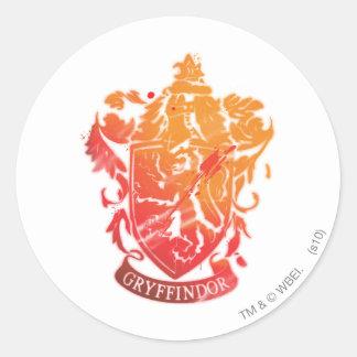 Gryffindor Crest - Splattered Round Stickers