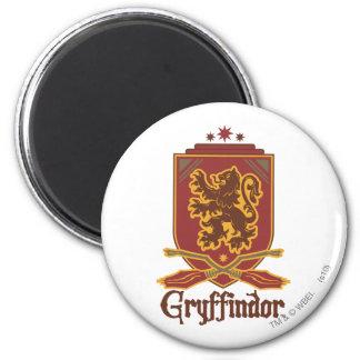 Gryffindor Quidditch Badge 2 Inch Round Magnet