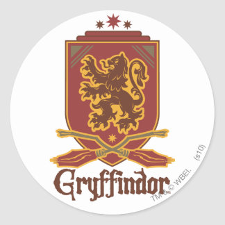 Gryffindor Quidditch Badge Classic Round Sticker