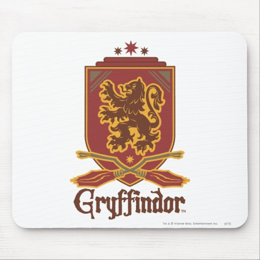 Gryffindor Quidditch Badge Mouse Pad