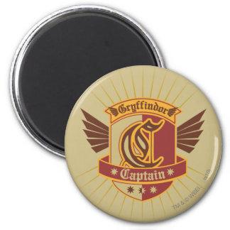 Gryffindor Quidditch Captain Emblem 2 Inch Round Magnet