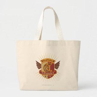 Gryffindor Quidditch Captain Emblem Large Tote Bag