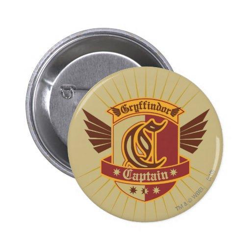 Gryffindor Quidditch Captain Emblem Pinback Button