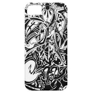 GRYM - Black & White Abstract Art iPhone SE/5/5s Case