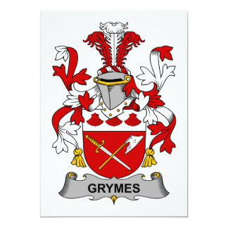 Grymes Family Crest Card
