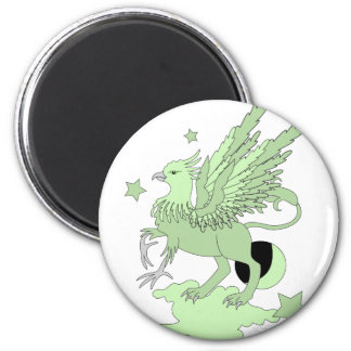 Gryphon Avocado Green 2 Inch Round Magnet