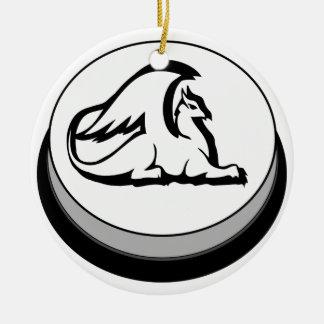 Gryphon Button Design Novel Logo Ceramic Ornament