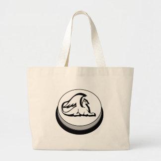 Gryphon Button Design Novel Logo Large Tote Bag