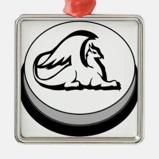 Gryphon Button Design Novel Logo Metal Ornament