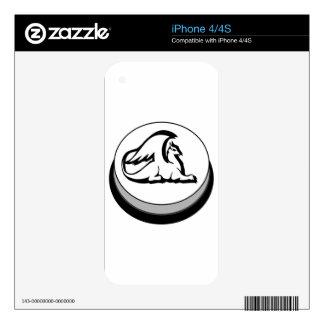Gryphon Button Design Novel Logo Skin For The iPhone 4