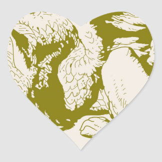 Gryphon Gold Alice In Wonderland Heart Stickers