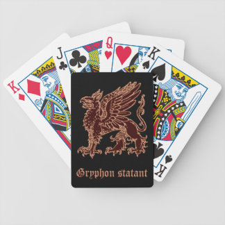 Gryphon medieval heraldry bicycle playing cards