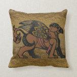 Gryphon New Age Mythology Throw Pillows