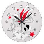 Gryphon o rojo del grifo reloj de pared