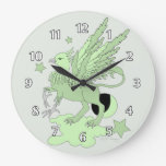 Gryphon or Griffin Green Clocks