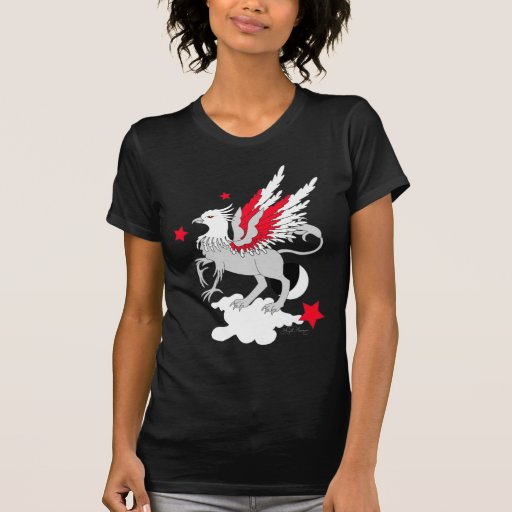 Gryphon Red And White Tshirt